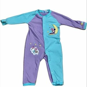 DISNEY Vtg 12m Fleece Onesie Bodysuit Sleeper